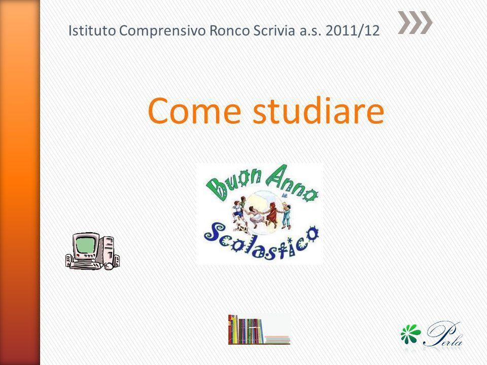 Istituto Comprensivo Ronco Scrivia a.s. 2011/12