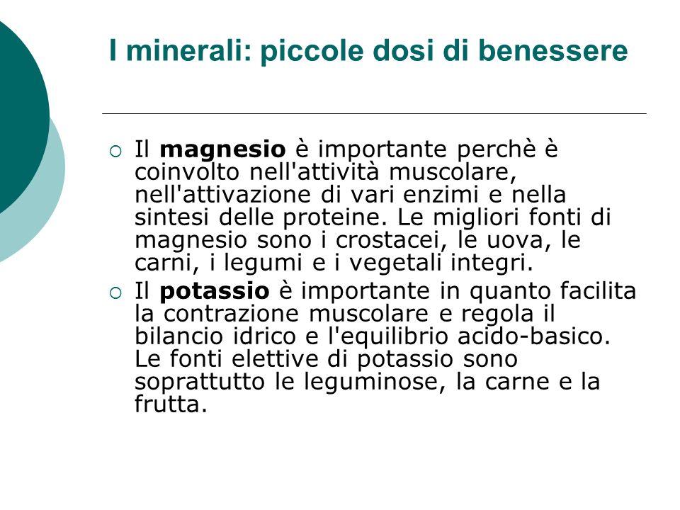 I minerali: piccole dosi di benessere