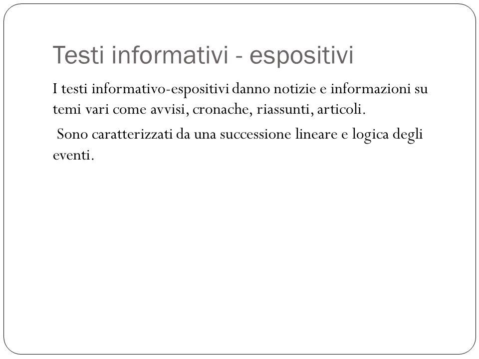 Testi informativi - espositivi