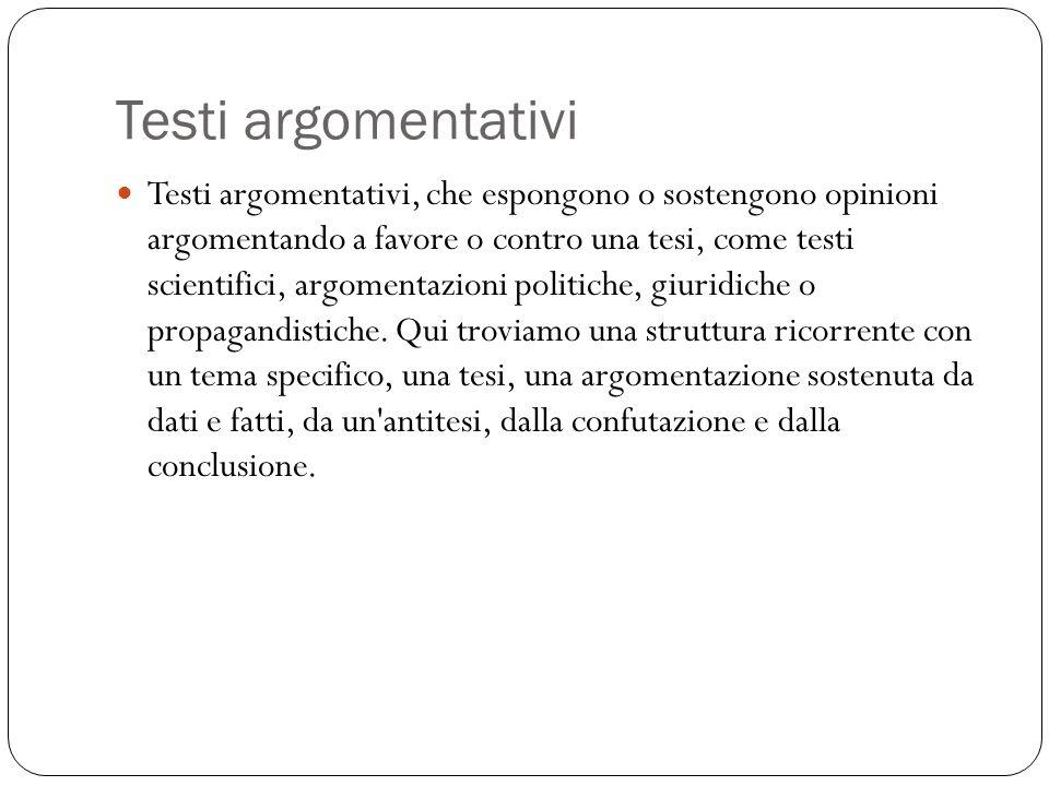Testi argomentativi
