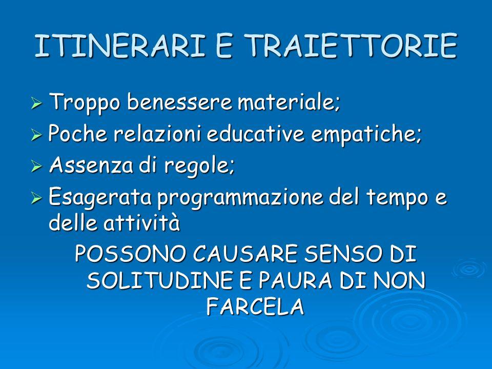 ITINERARI E TRAIETTORIE