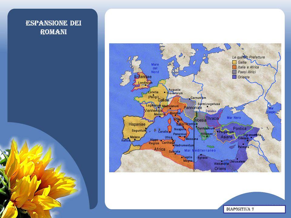 Espansione dei romani Diapositiva 7
