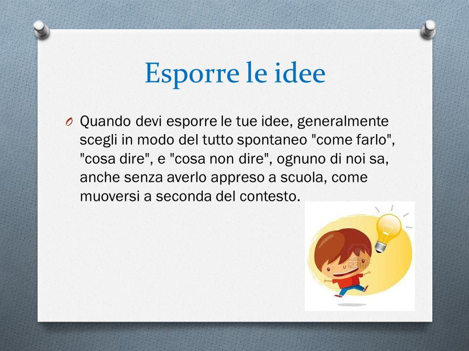 Esporre le idee
