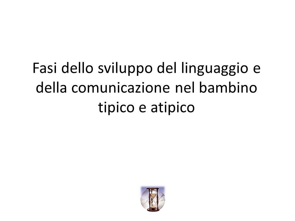 Fasi dello sviluppo del linguaggio e della comunicazione nel bambino tipico e atipico