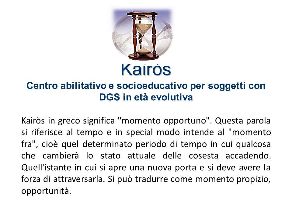 Kairòs Centro abilitativo e socioeducativo per soggetti con DGS in età evolutiva.