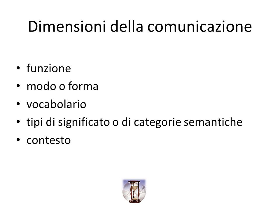 Dimensioni della comunicazione