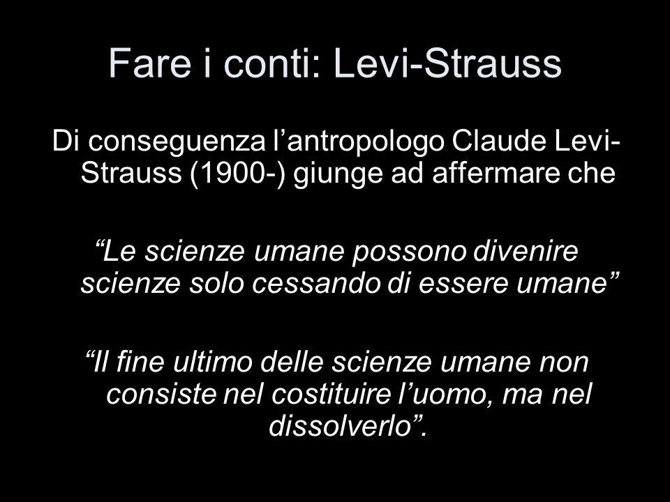 Fare i conti: Levi-Strauss