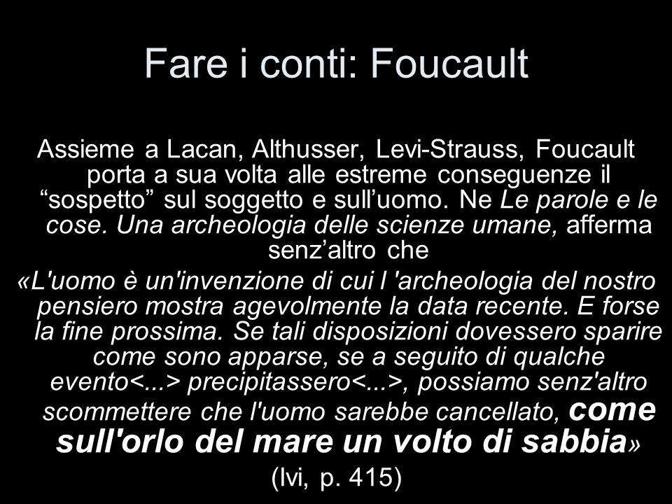 Fare i conti: Foucault