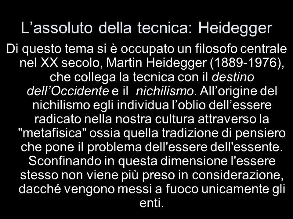 L'assoluto della tecnica: Heidegger
