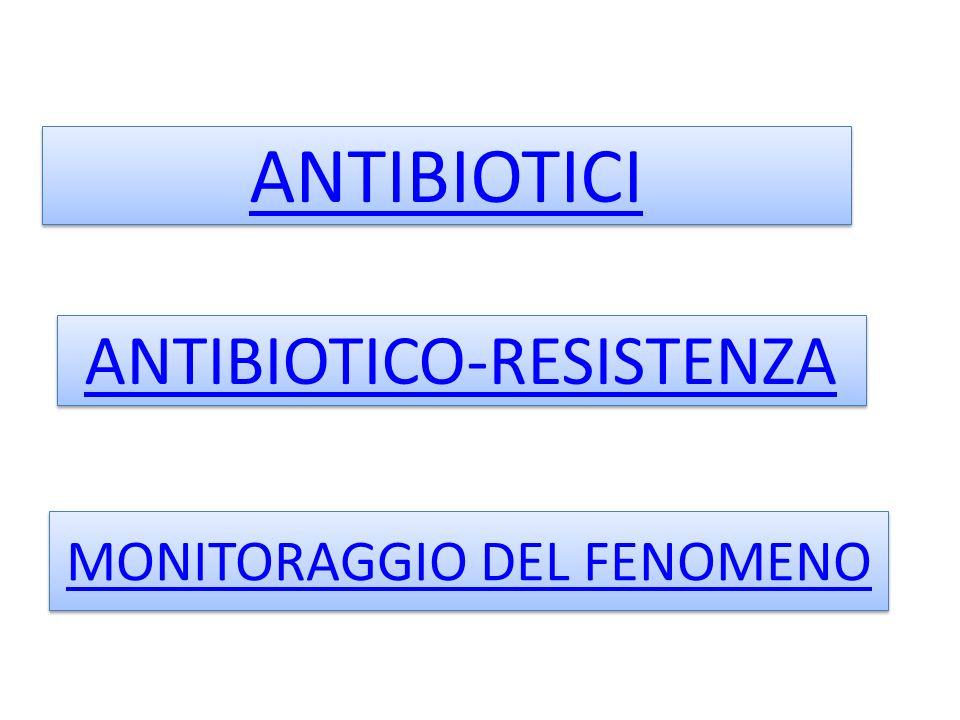 ANTIBIOTICI ANTIBIOTICO-RESISTENZA MONITORAGGIO DEL FENOMENO