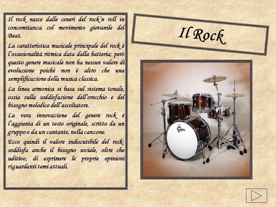 Il rock nasce dalle ceneri del rock'n roll in concomitanza col movimento giovanile del Beat.
