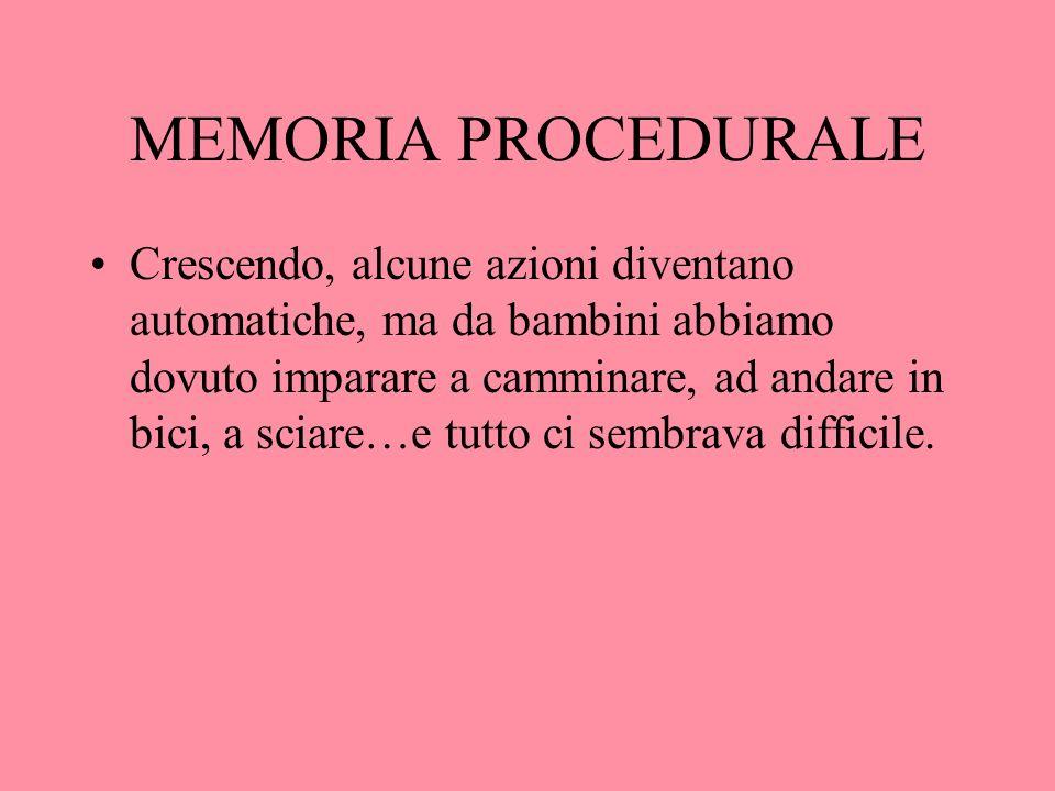 MEMORIA PROCEDURALE