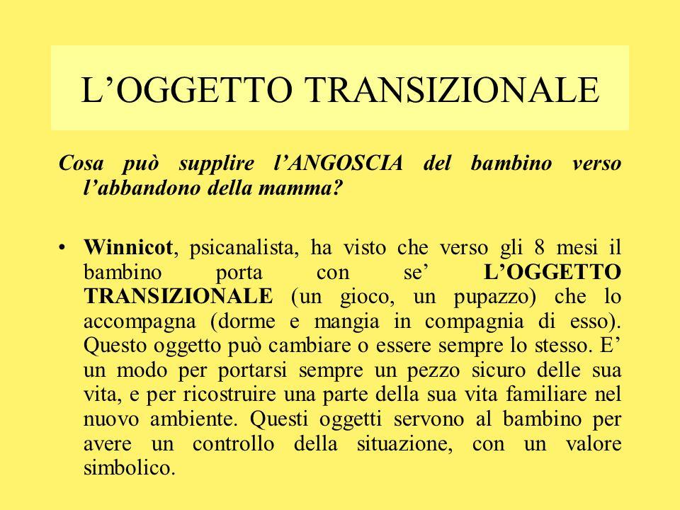 L'OGGETTO TRANSIZIONALE