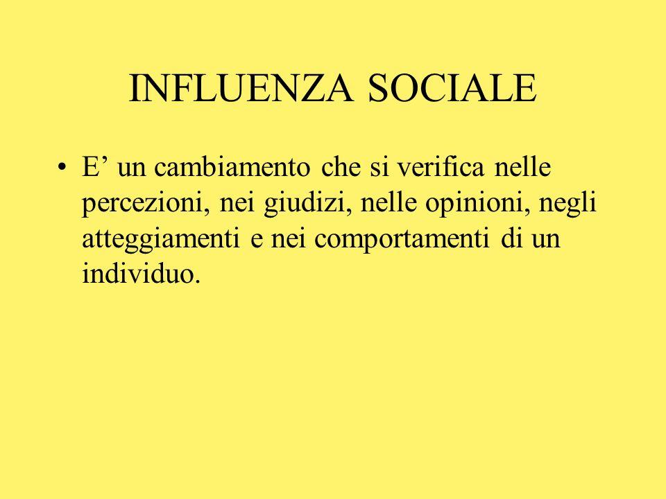 INFLUENZA SOCIALE