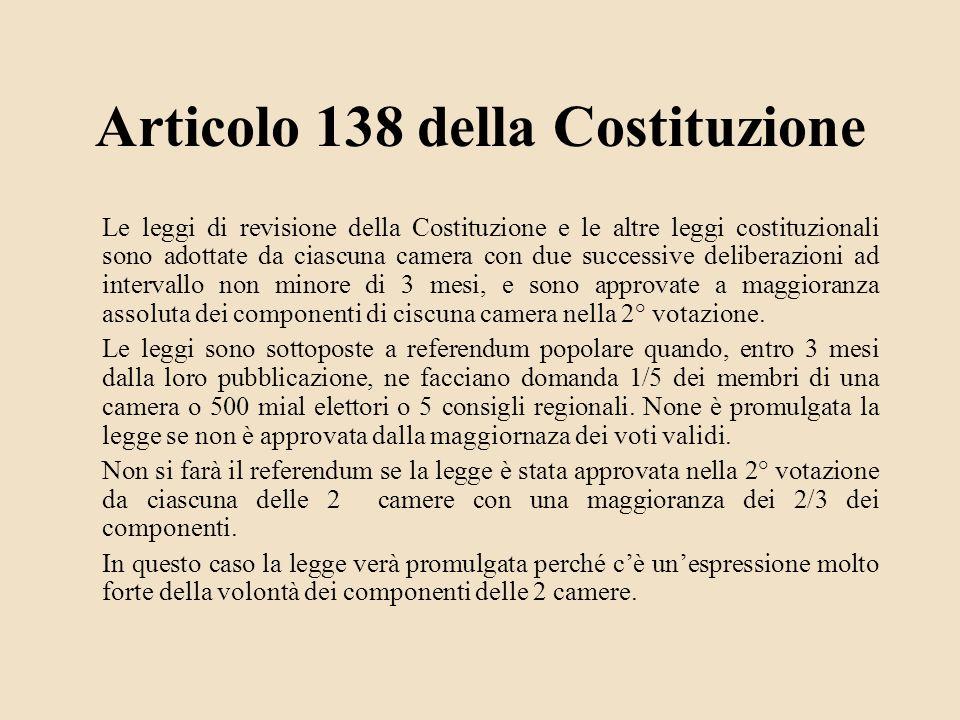 Articolo 138 della Costituzione