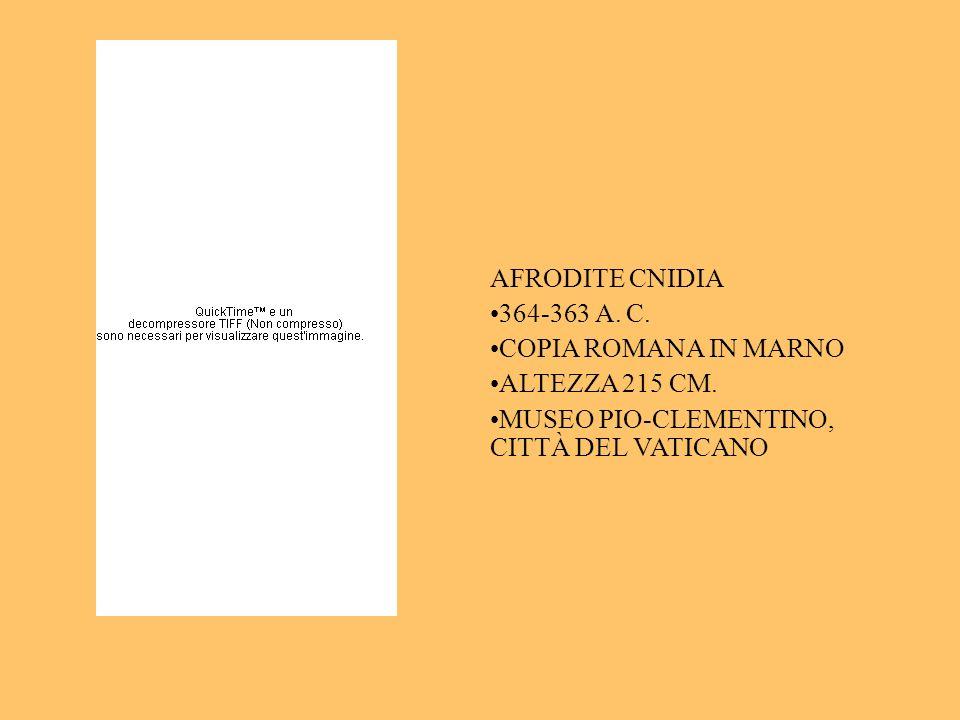 AFRODITE CNIDIA 364-363 A. C. COPIA ROMANA IN MARNO.