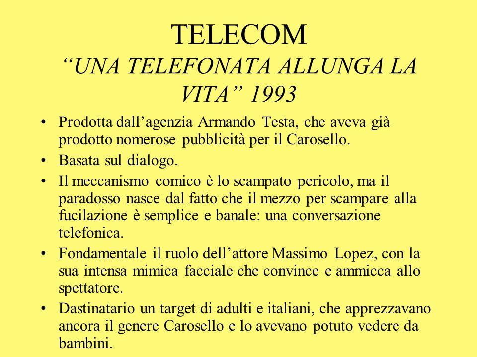TELECOM UNA TELEFONATA ALLUNGA LA VITA 1993