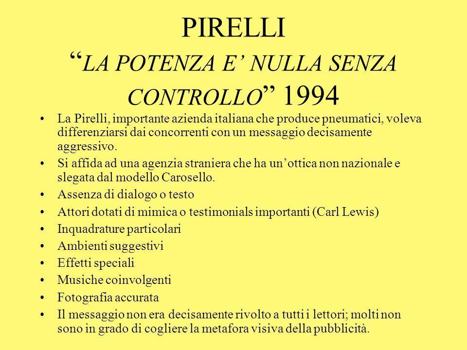 PIRELLI LA POTENZA E' NULLA SENZA CONTROLLO 1994
