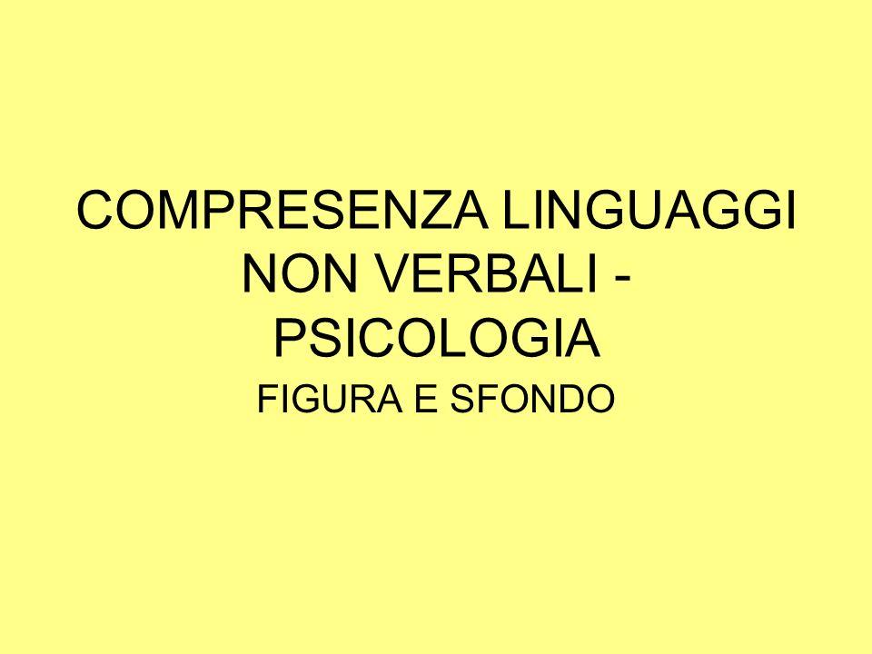 COMPRESENZA LINGUAGGI NON VERBALI - PSICOLOGIA