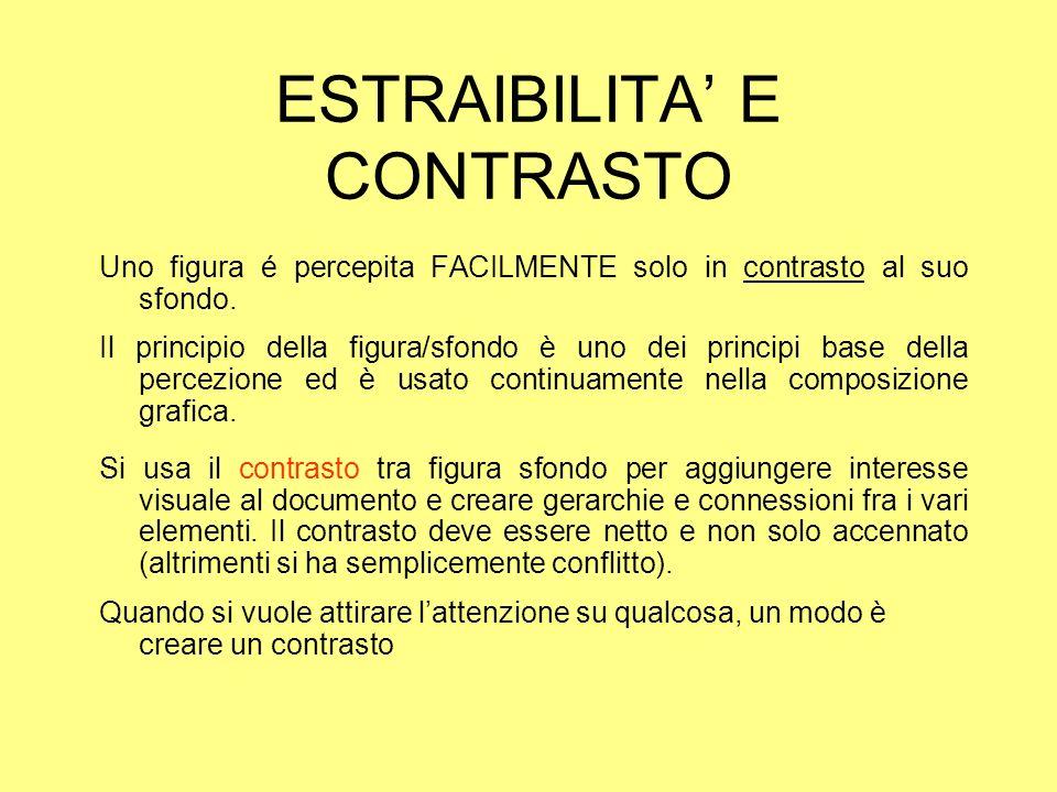 ESTRAIBILITA' E CONTRASTO