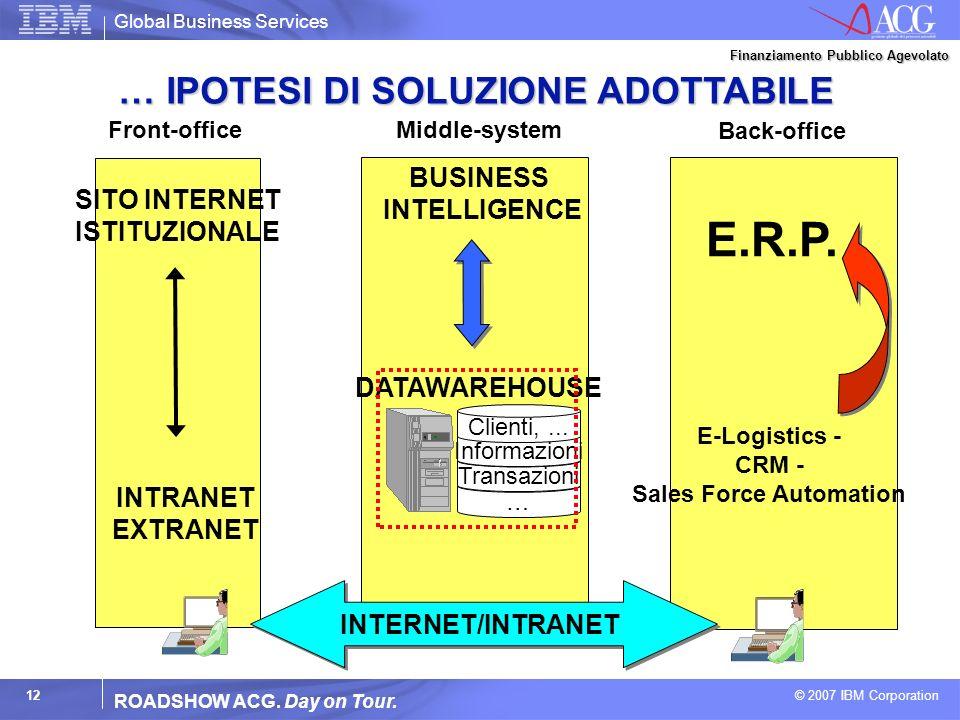 E.R.P. … IPOTESI DI SOLUZIONE ADOTTABILE BUSINESS INTELLIGENCE