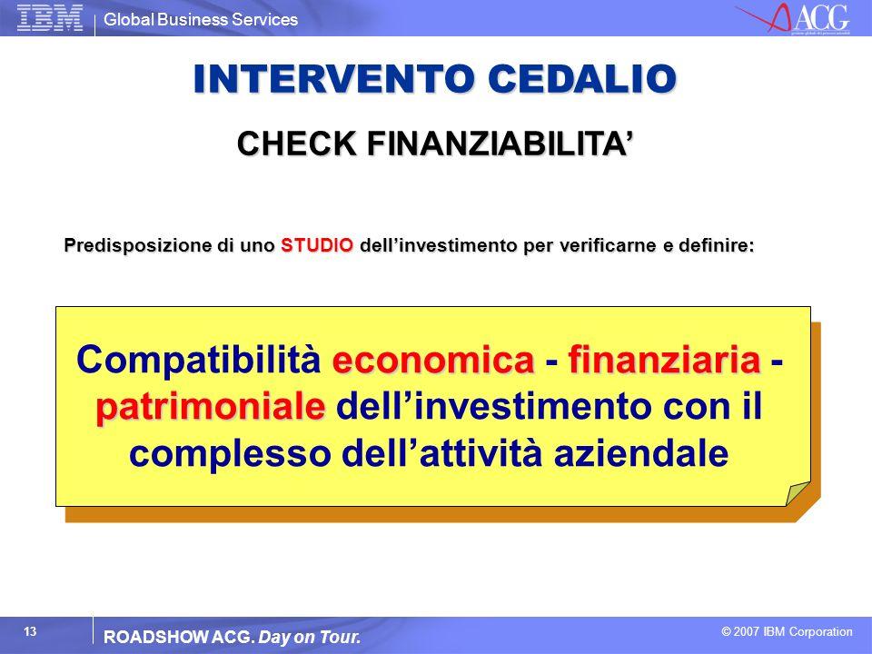 INTERVENTO CEDALIO CHECK FINANZIABILITA'
