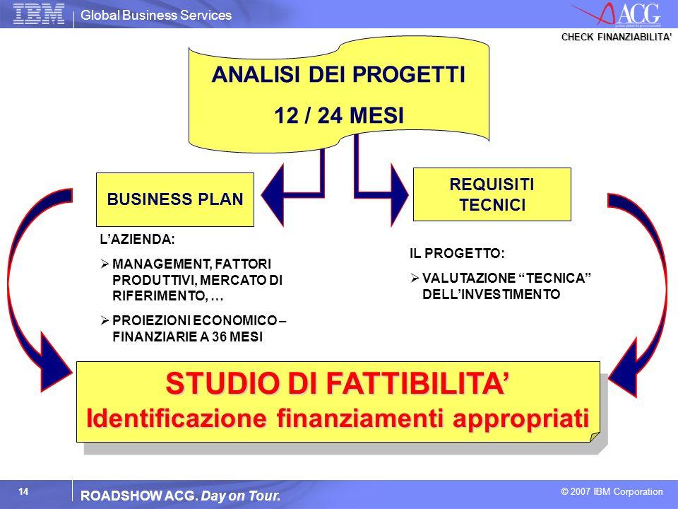 STUDIO DI FATTIBILITA' Identificazione finanziamenti appropriati