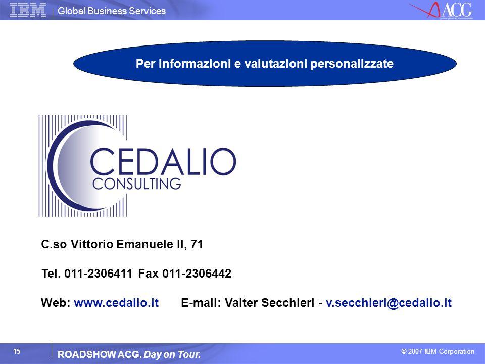 Per informazioni e valutazioni personalizzate