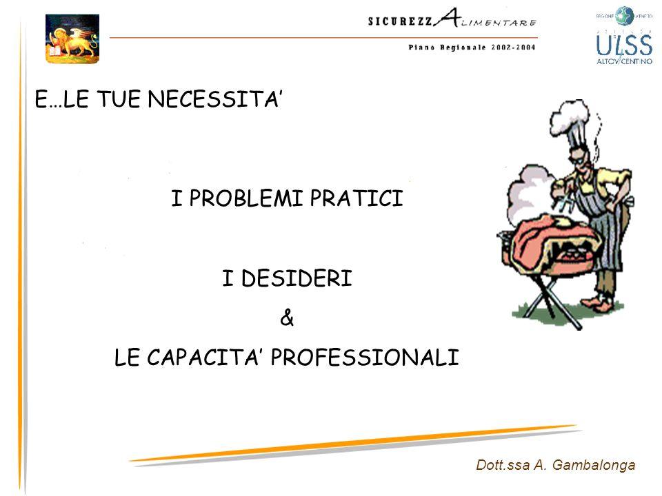 LE CAPACITA' PROFESSIONALI