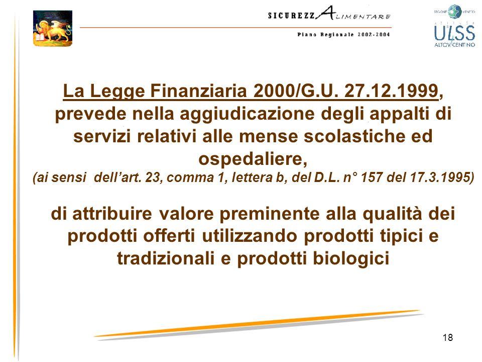 La Legge Finanziaria 2000/G. U. 27. 12
