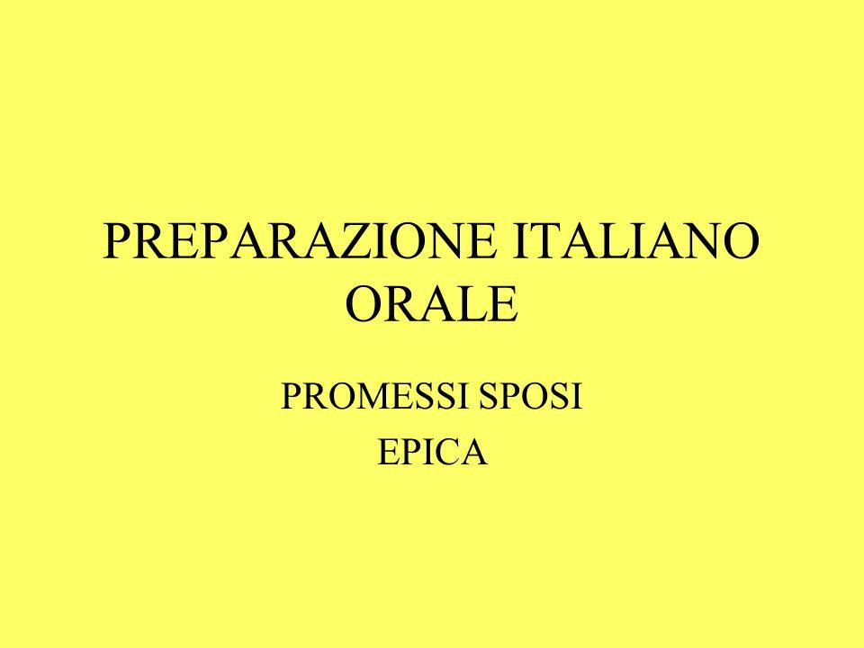 PREPARAZIONE ITALIANO ORALE