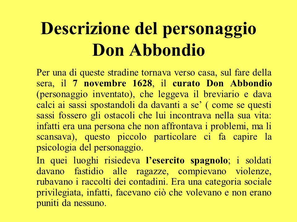 Descrizione del personaggio Don Abbondio