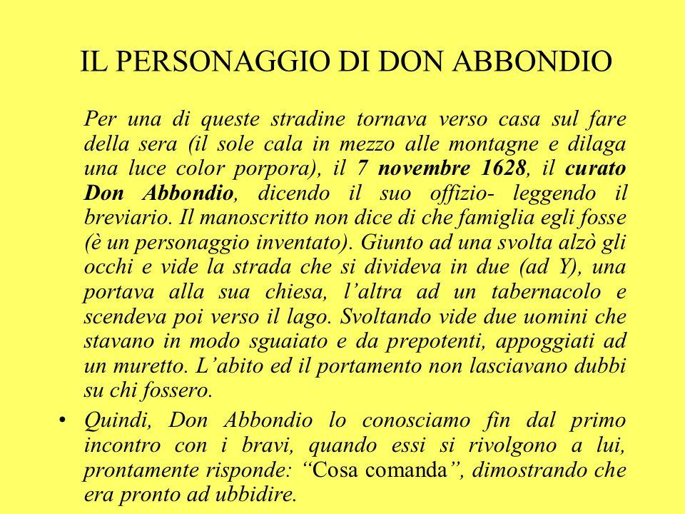 IL PERSONAGGIO DI DON ABBONDIO