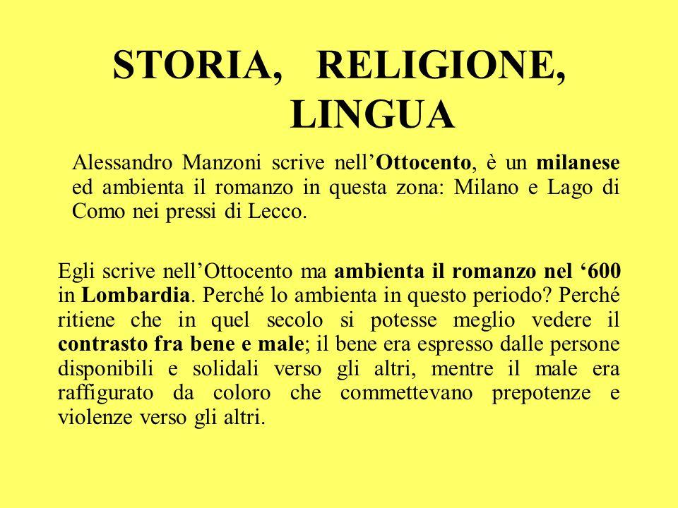 STORIA, RELIGIONE, LINGUA