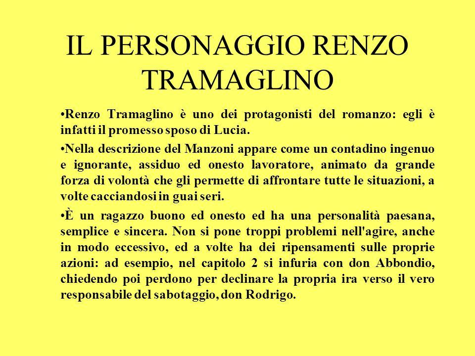 IL PERSONAGGIO RENZO TRAMAGLINO