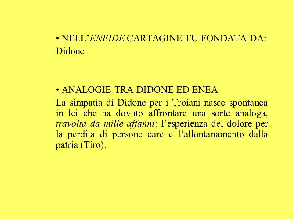 NELL'ENEIDE CARTAGINE FU FONDATA DA: