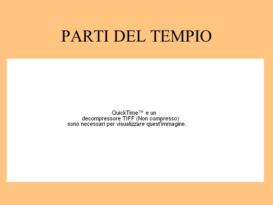PARTI DEL TEMPIO