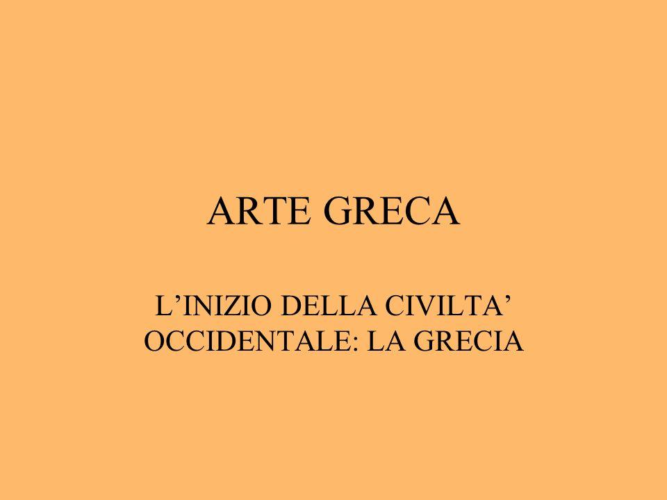L'INIZIO DELLA CIVILTA' OCCIDENTALE: LA GRECIA