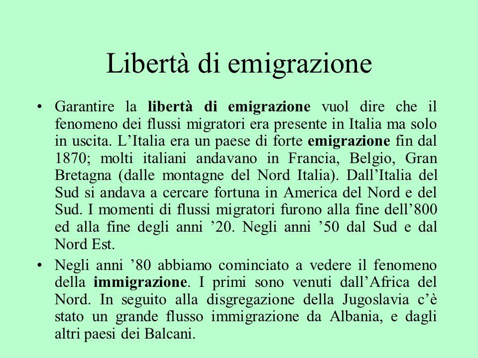 Libertà di emigrazione