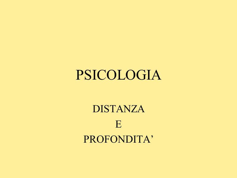 DISTANZA E PROFONDITA'