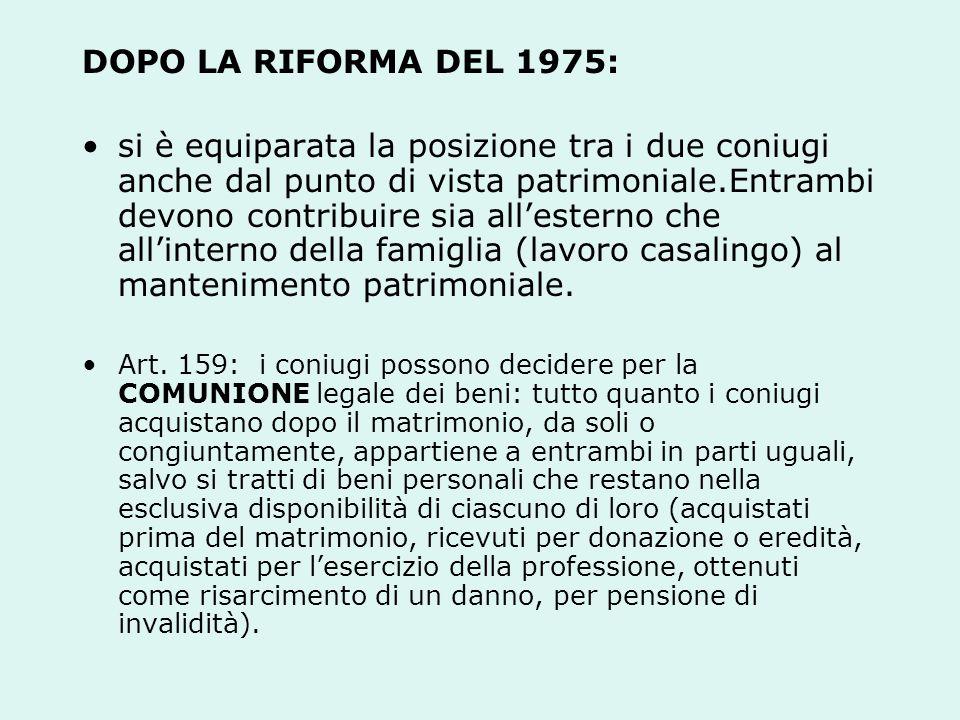 DOPO LA RIFORMA DEL 1975:
