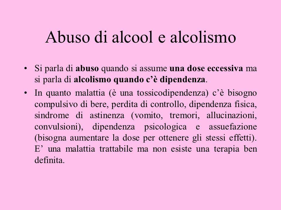 Abuso di alcool e alcolismo