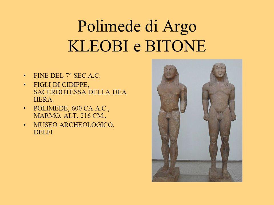 Polimede di Argo KLEOBI e BITONE