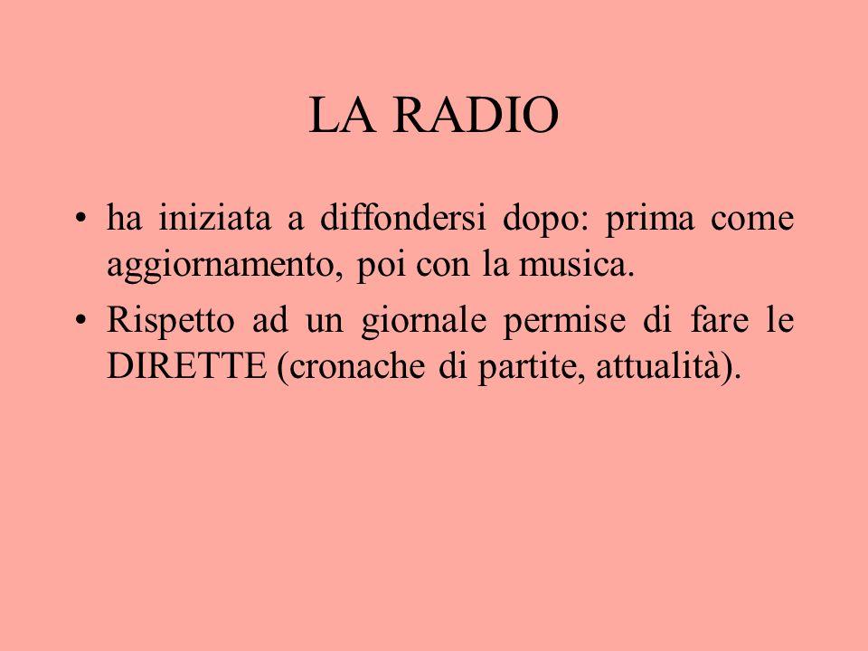 LA RADIO ha iniziata a diffondersi dopo: prima come aggiornamento, poi con la musica.