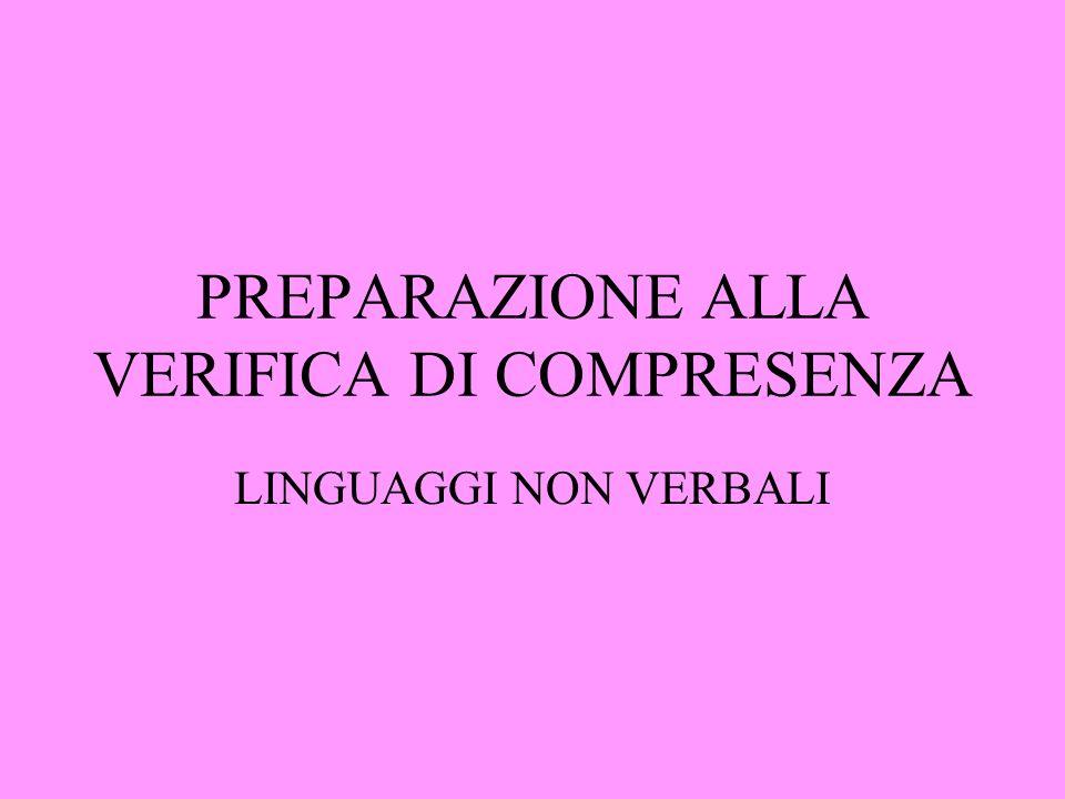 PREPARAZIONE ALLA VERIFICA DI COMPRESENZA