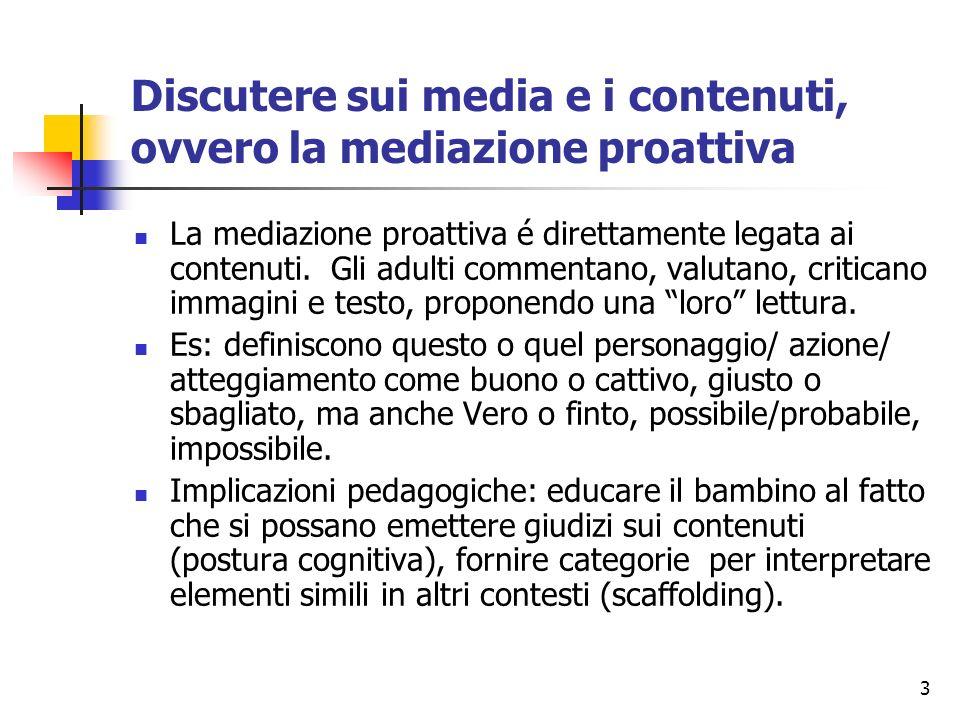 Discutere sui media e i contenuti, ovvero la mediazione proattiva