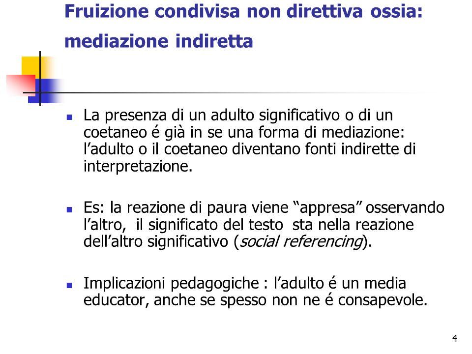 Fruizione condivisa non direttiva ossia: mediazione indiretta