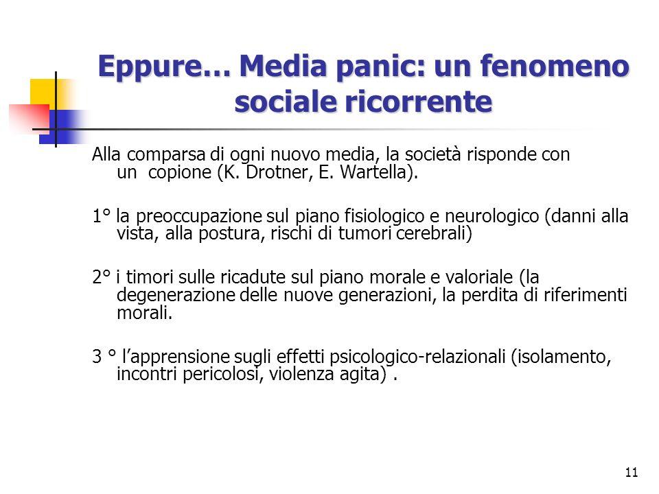 Eppure… Media panic: un fenomeno sociale ricorrente