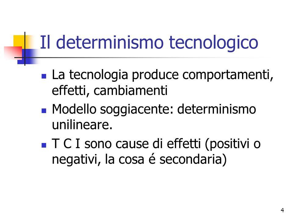 Il determinismo tecnologico