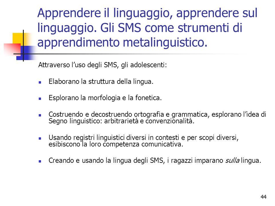 Apprendere il linguaggio, apprendere sul linguaggio